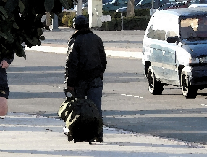 Homeless Bag Person