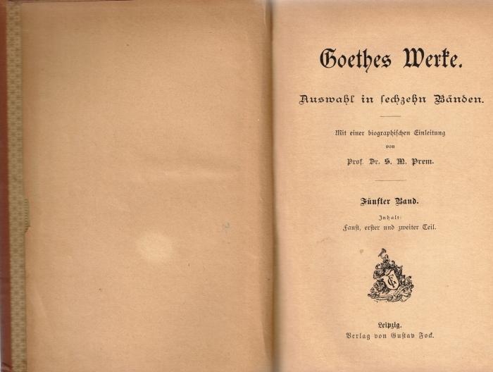 Goethe Vol-5-8