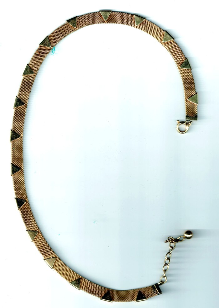Gold Necklace Front